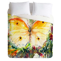 Ginette Fine Art Yellow Butterfly Duvet Cover