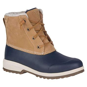 Women's Maritime Repel Boot in Tan & Navy by Sperry