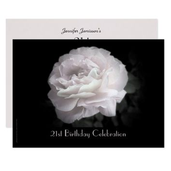 21st Birthday Party Celebration Pale Pink Rose Card