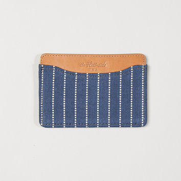 The Hill-Side Card Case Selvedge Indigo Wabash Dot-Stripe