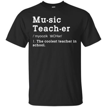 Music Teacher Funny Definition Tshirt. Music Teacher Gifts
