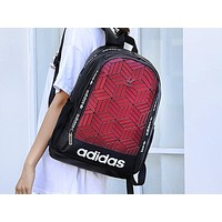 ADIDAS fashion men's and women's casual backpacks are hot sellers with patchwork tattoo gradient shopping backpacks #3
