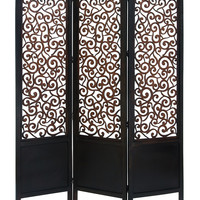 "Room Dividers Wood Screen 3 Panel 72""""H, 60""""W"