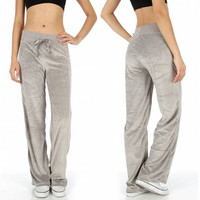 Solid Velour Active Pants in S-XL in 8 Colors
