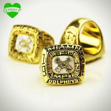 LMFCI7 1984 SUPER BOWL MIAMI DOLPHINS MARINO WORLD CHAMPIONSHIP RING For gift