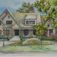 Painting of Your Home in Watercolor or Ink by maryfrancessmith