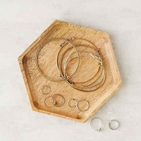 Wooden Hexagon Catch-All Dish