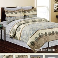 Medallion Border 8pc Bed in a Bag - Available in Queen or King Size