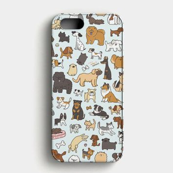Dog Cute Husky Kawaii Corgi Pattern iPhone SE Case