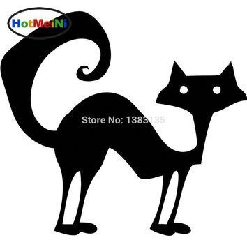 "HotMeiNi 5.5*5"" Free Shipping Cat - Wicca Pagan Occult Magic Car Sticker For Truck Window SUV Door  Vinyl Decal 8 Colors"