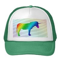 Sad Rainbow Zebra Unicorn Hat