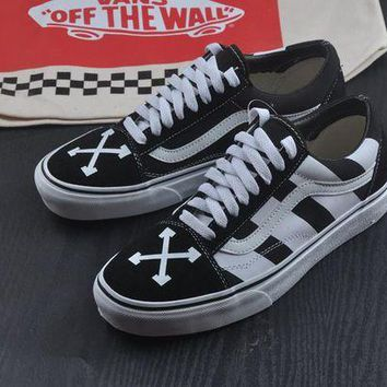 ONETOW AMAC Customs OFF WHITE X VANS Men Women Sneaker