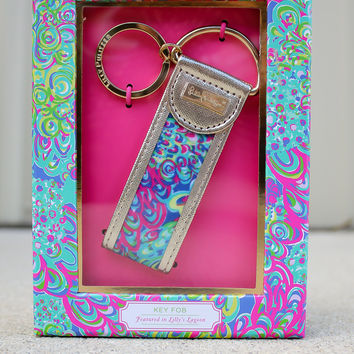 lilly pulitzer crown jewel sheet lilly pulitzer key fob lillys lagoon from a cut above boutique