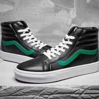 Trendsetter Vans SK8-Hi Classic High-Top Leather Flats Sneakers Sport Shoes