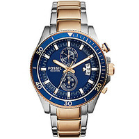 Fossil Men's Wakefield Chronograph Stainless Steel Case Watch - Silver