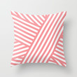 Coral Bandaids Throw Pillow by House of Jennifer