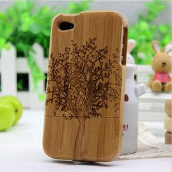 Real Nature bamboo Case iPhone 4 wood case iPhone 4s case for iphone 4 Wooden Case iphone 4 case iPhone cover