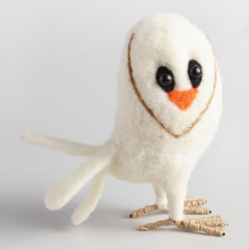 Felted Wool Barn Owl