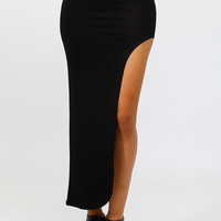 Side Slit Mello Maxi Skirt