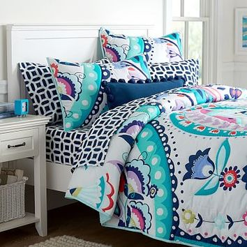 Paisley Bloom Quilt + Sham