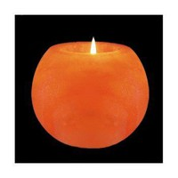 Ball Shaped Himalayan Natural Salt Crystal Candle Holder