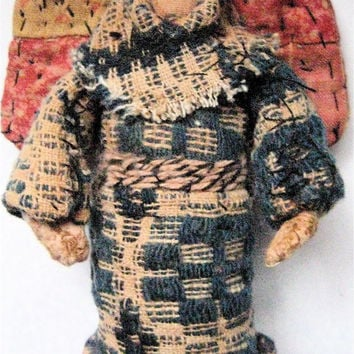 OOAK Primitive Folk Art Prairie Angel--PRIMITIVE BLESSINGS--Original Design Handcrafted from Vintage, Olde Quilt