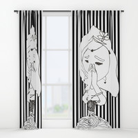 Namaste | Painting by Elisavet #society6 Window Curtains by Azima