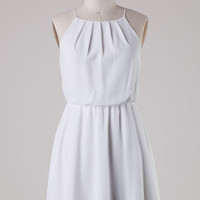 Off White Halter Dress
