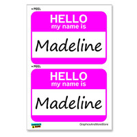 Madeline Hello My Name Is - Sheet of 2 Stickers
