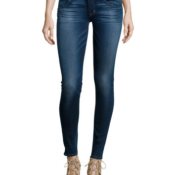 Collin Stretch Skinny Jeans, Blue Gold, Size: