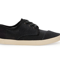 TOMS Paseos Women Black Canvas Perforated