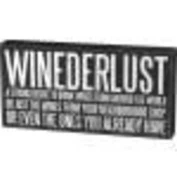 Winederlust Box Sign By Primitives By Kathy