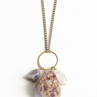 Undermined Indie Crystal Necklace - $29.50: ThreadSence, Women's Indie & Bohemian Clothing, Dresses, & Accessories