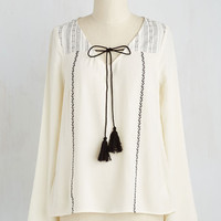 Boho Mid-length Long Sleeve Exemplary Tempo Top