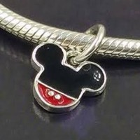 Pandora Disney Parks Mickey Icon Dangle Charm Bead