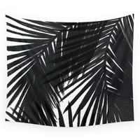 Society6 Palms Black Wall Tapestry