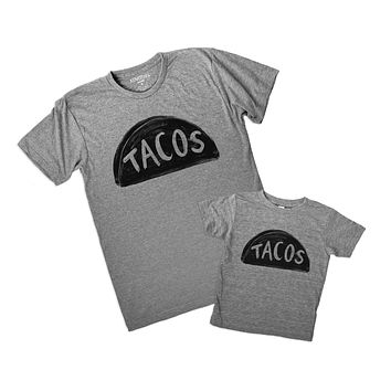 Father Son, Father Daughter (Matching Set) Taco T Shirts