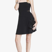 MESH INSET STRAPLESS SKATER DRESS from EXPRESS