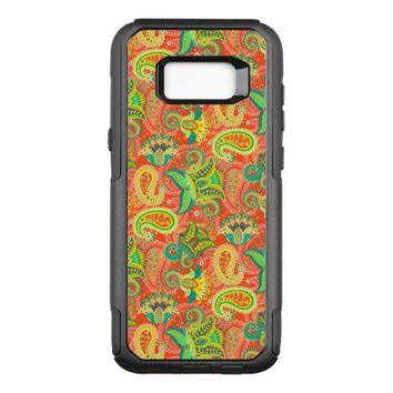 Cute colorful seamless paisley pattern OtterBox commuter samsung galaxy s8+ case