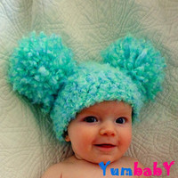 Baby Hats Pom Pom Hats Baby Girl Hat Crochet Baby Girl Hats Newborn Photography Props Hats Photo prop Baby Girl Hats