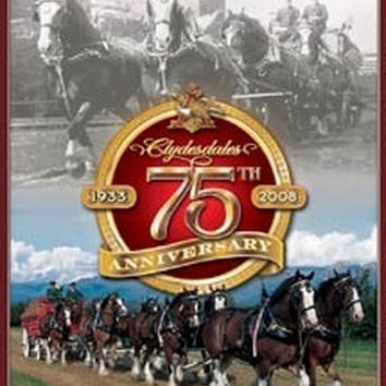Tin Sign - Budweiser - Clydesdale's 75th Annv.