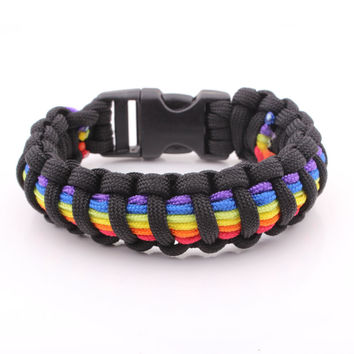 Rainbow Stripe Paracord