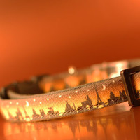 Paris at Night Skyline Cat Collar
