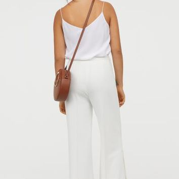 Wide-leg Pants - White - Ladies | H&M US