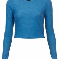 LONG SLEEVED RIBBED TOP