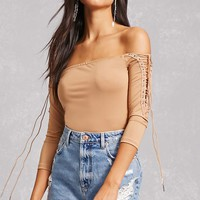 Cheeky Lace-Up Bodysuit