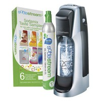 SodaStream Fountain Jet Black/Silver Soda Maker Starter Kit