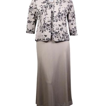 Alex Evenings Women's 2PC Sparkle Floral Dress Set