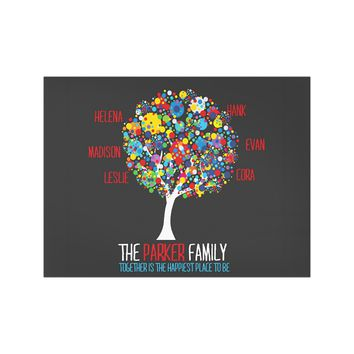Paint Splatter Family Treet Wall Art
