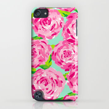 Roses (Lilly Pulitzer style) iPhone & iPod Case by uramarinka